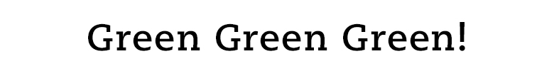 グリーンアイテム